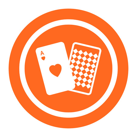 royal flush: Playing cards icon