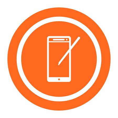 smartphone icon: Icon of smartphone with stylus