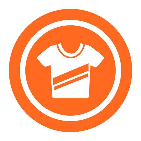 diagonal stripes: Icon of t-shirt with diagonal stripes print