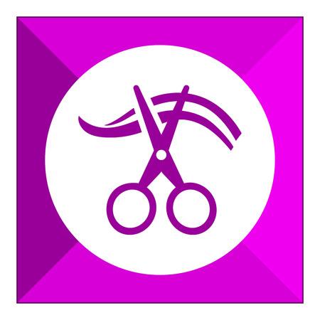 cutting hair: Icon of scissors cutting hair