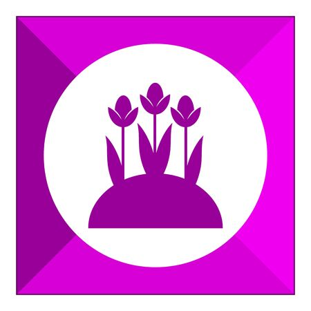 flower bed: Flower bed icon Illustration
