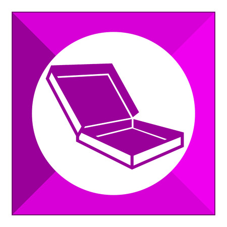unpacking: Icon of open carton flat box Illustration