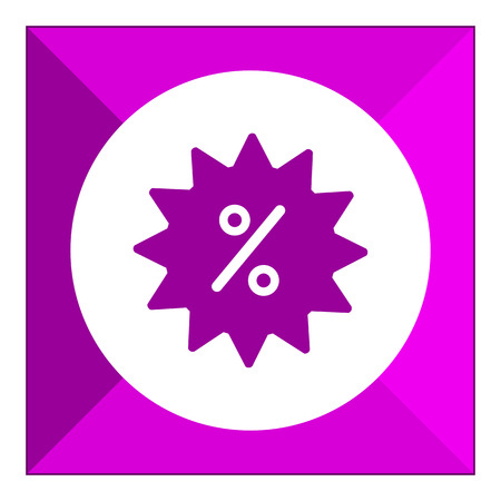 percent sign: Icon of sale label with percent sign