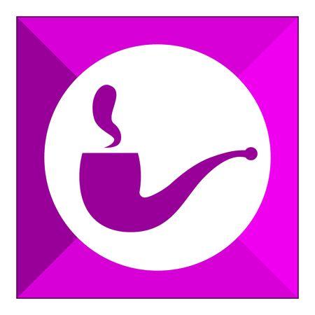 pipe smoking: Smoking pipe icon