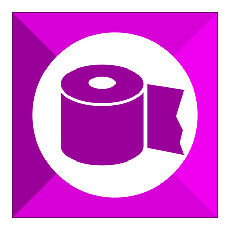 toilet roll: Icon of toilet paper roll Illustration
