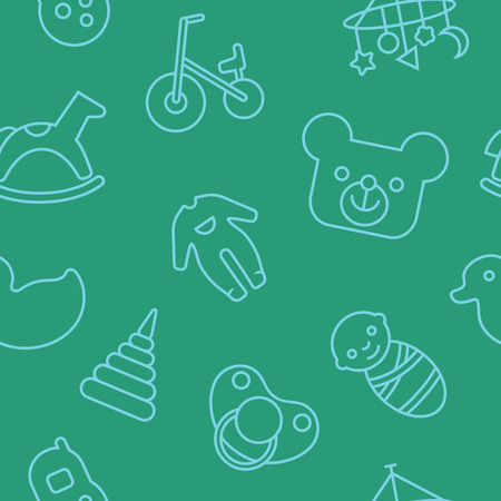 handlebar: Seamless pattern with babyhood concept