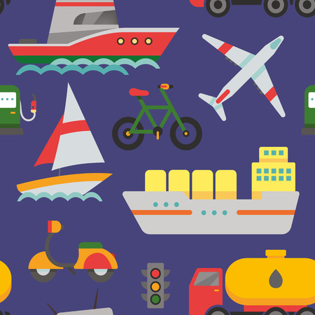 transportation: Seamless pattern with transport concept