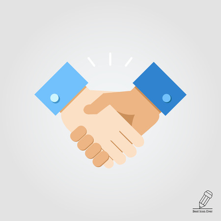 hand in hand: Icon of handshake sign Illustration