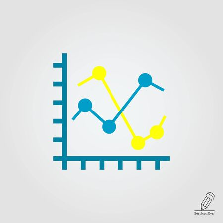 fluctuation: Icon of two line Illustration