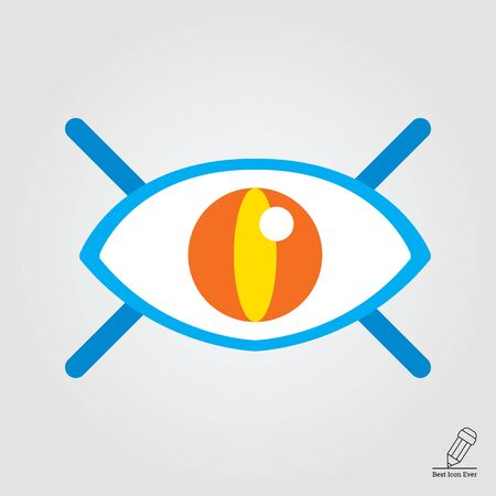 revision: Icon of open human eye with lashes Illustration