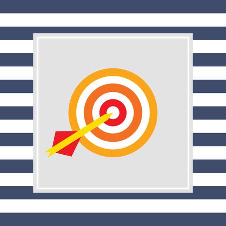 hitting: Icon of dart arrow hitting target