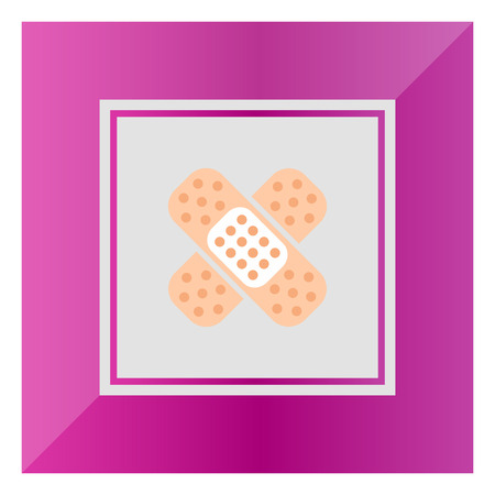 adhesive plaster: Icon of crossed pieces of adhesive plaster Illustration