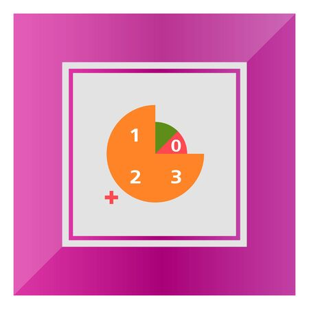 Icon of circular diagram with numbers color segments and plus 43381540 icon of circular diagram with numbers color segments and plus sign ccuart Images