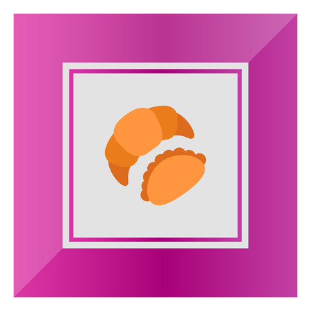 bun: Icon of croissant and bun Illustration