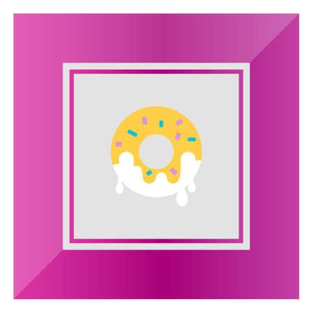 doughnut: Icon of doughnut with sugar icing
