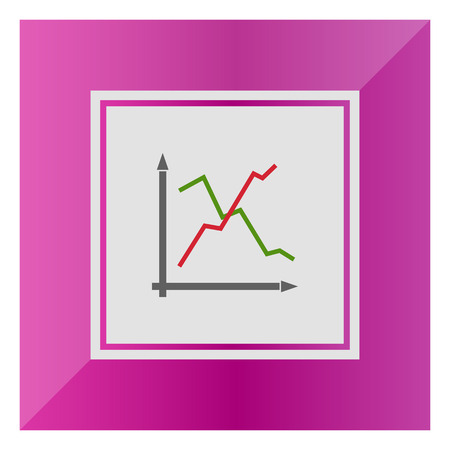 histogram: Icon of line histogram Illustration