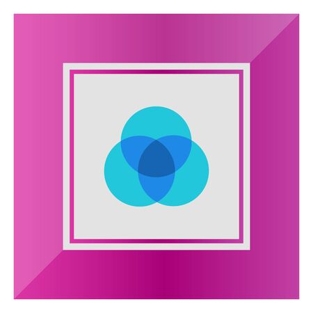 overlapping: Icon of overlapping circular diagrams Illustration