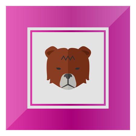 bearish business: Icon of bears head as stock market trend Illustration