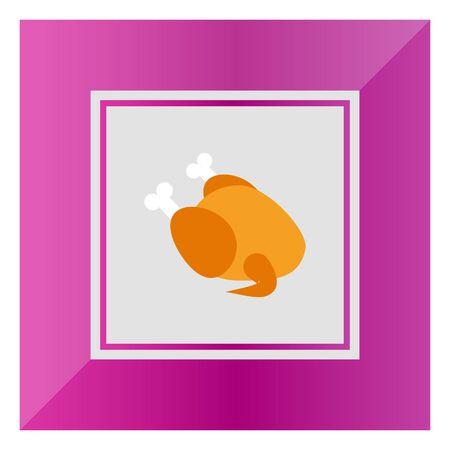 fowl: Icon of chicken fowl