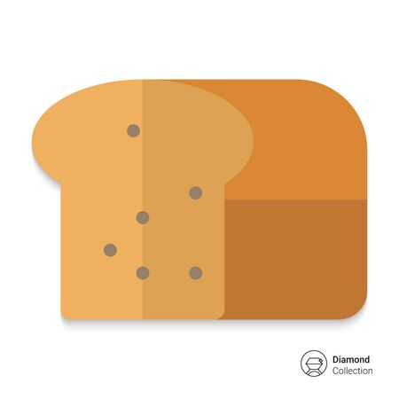loaf: Icon of cut loaf of bread