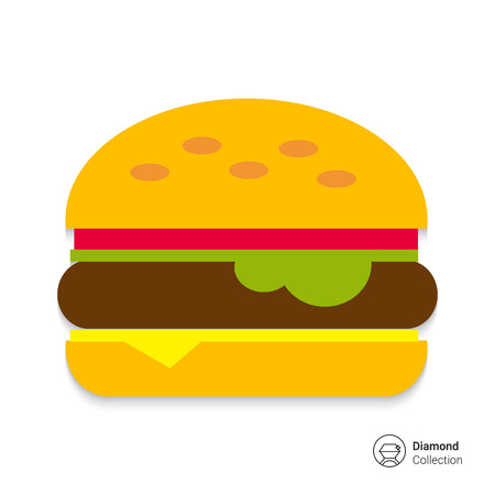 cheese burger: Burger icon Illustration