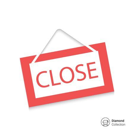 Icon of close door sign