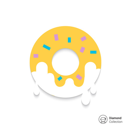 icing: Icon of doughnut with sugar icing