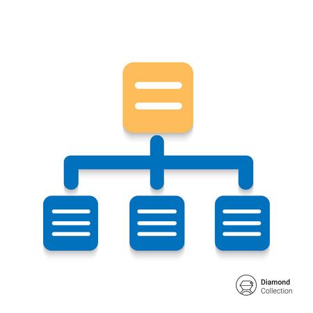 network marketing: Organizational chart icon