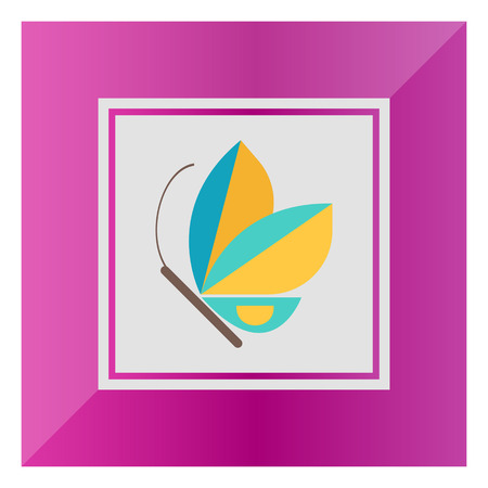 feeler: Blue butterfly icon