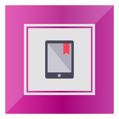 tab: Icon of electronic book with red tab