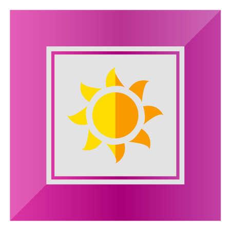 glaring: Sun icon Illustration
