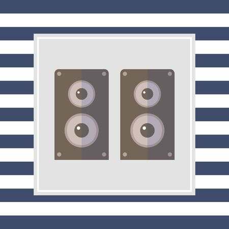 acoustics: Acoustics speakers icon Stock Photo