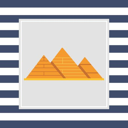 giza pyramids: Giza pyramids icon Stock Photo