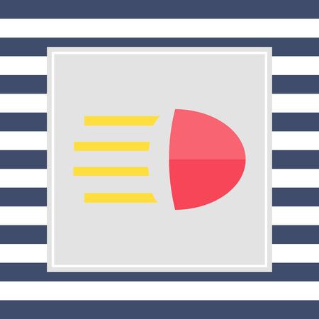 beam: Icoon van grootlicht teken Stock Illustratie
