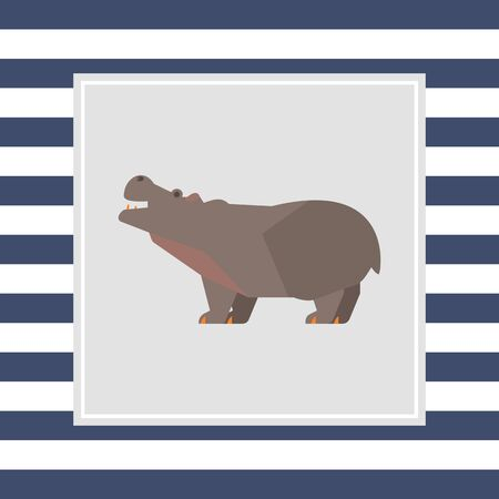 hippopotamus: Icono de Hippopotamus Foto de archivo