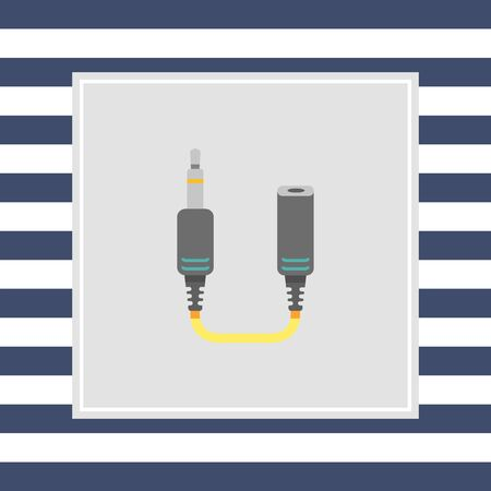 female connector: Icon of jack extender Stock Photo