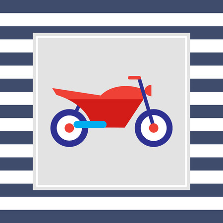handlebar: Sport motorcycle icon Illustration