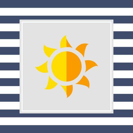 glaring: Sun icon Stock Photo