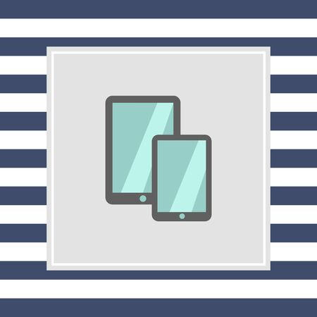 Icon of tablet computer and smartphone