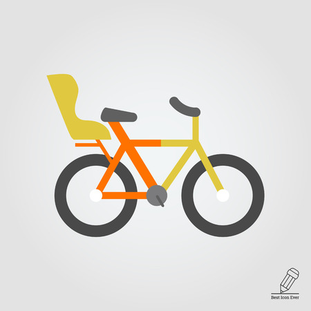 bicycle seat: Icon of bicycle with child seat Illustration