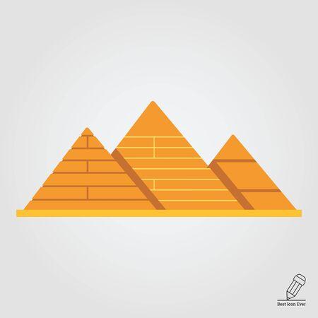 ancient civilization: Giza pyramids icon Illustration