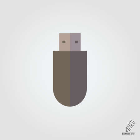 usb flash drive: Icon of USB flash drive without cover