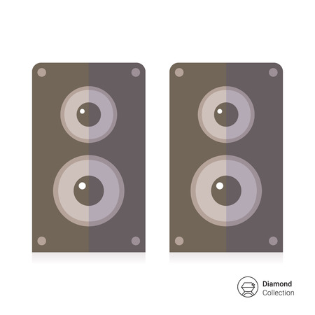 loud speaker: Acoustics speakers icon Illustration
