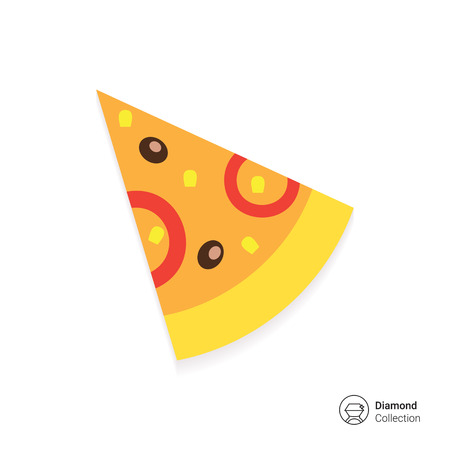 pizza dough: Pizza slice icon Illustration
