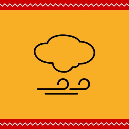windy day: Icon of cloud and wind sign