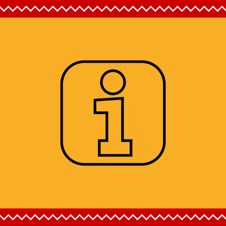 information point: Information point sign icon Illustration