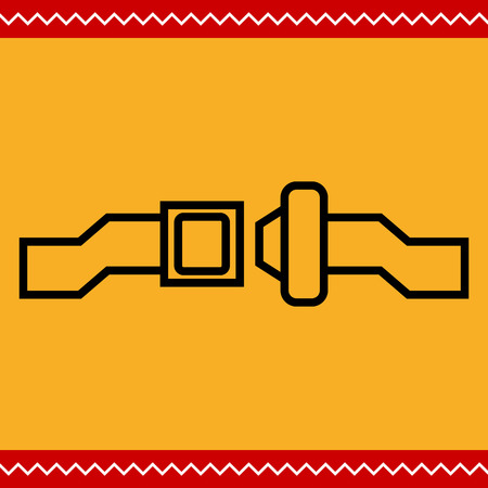 cinturon seguridad: Icono de cintur�n de seguridad de desbloqueo Vectores