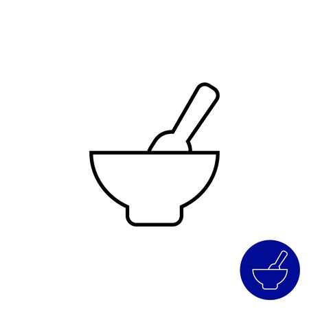 puree: Icon of baby bowl with spoon