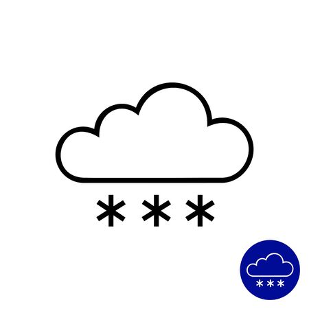 downfall: Icon of cloud and snowflakes Illustration