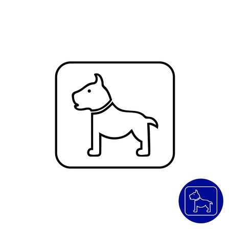 belongings: Icon of dog sign